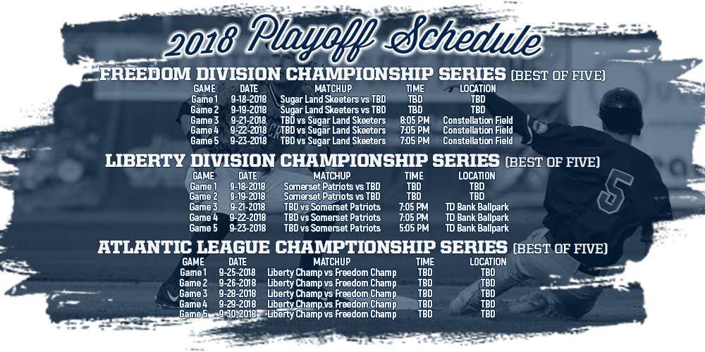 2018 Atlantic League Playoffs Schedule Announced