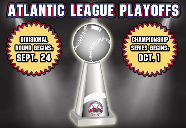 2019 ATLANTIC LEAGUE PLAYOFFS SCHEDULE ANNOUNCED