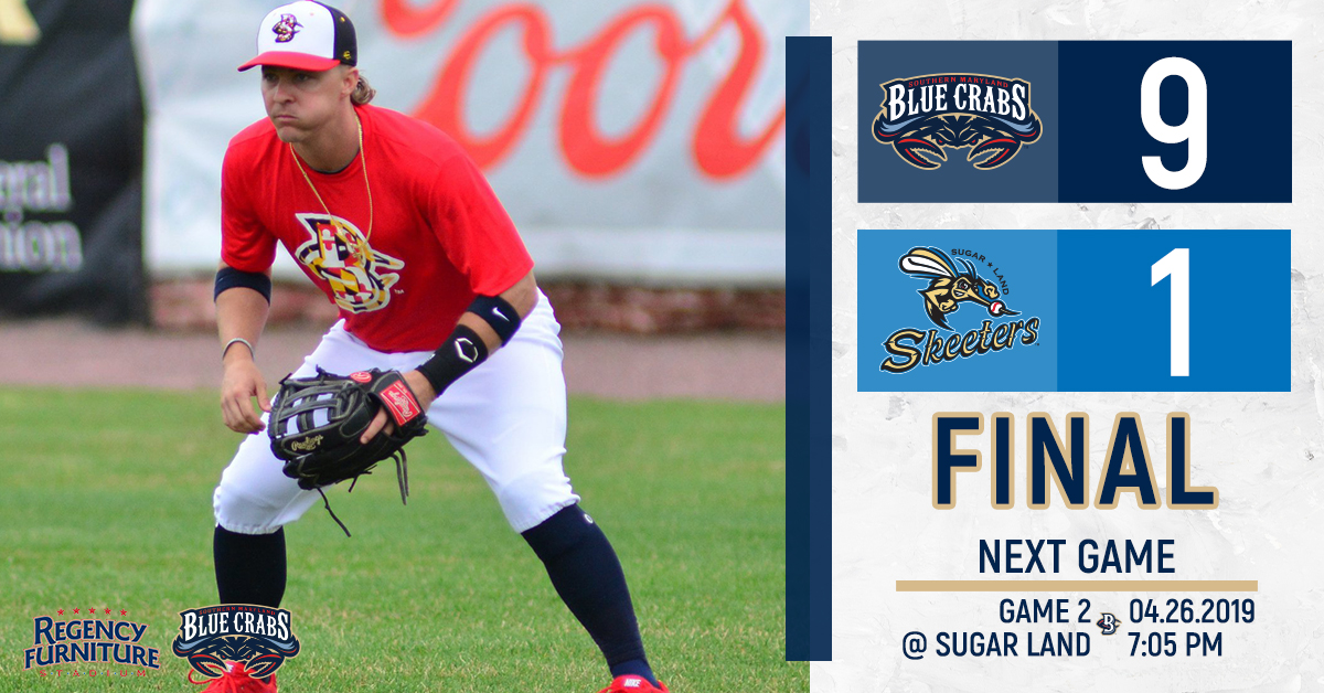 Blue Crabs Blowout Defending Champs in Season Opener