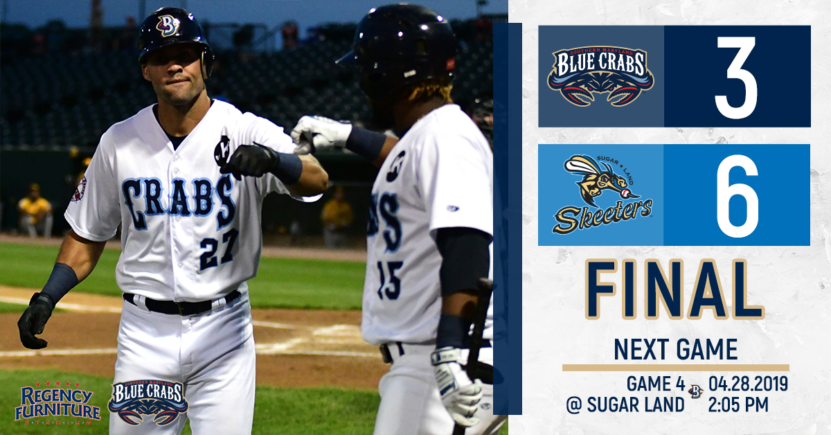Skeeters Early Offense Too Much For Blue Crabs