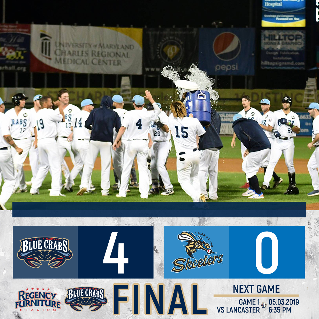 Craig Stem Throws a Gem in Route to a Blue Crabs Series Finale Victory