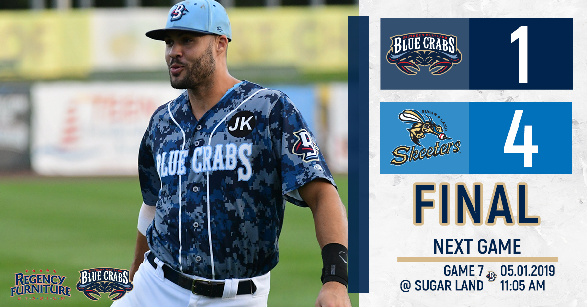 Blue Crabs Come Up Short In Sugar Land