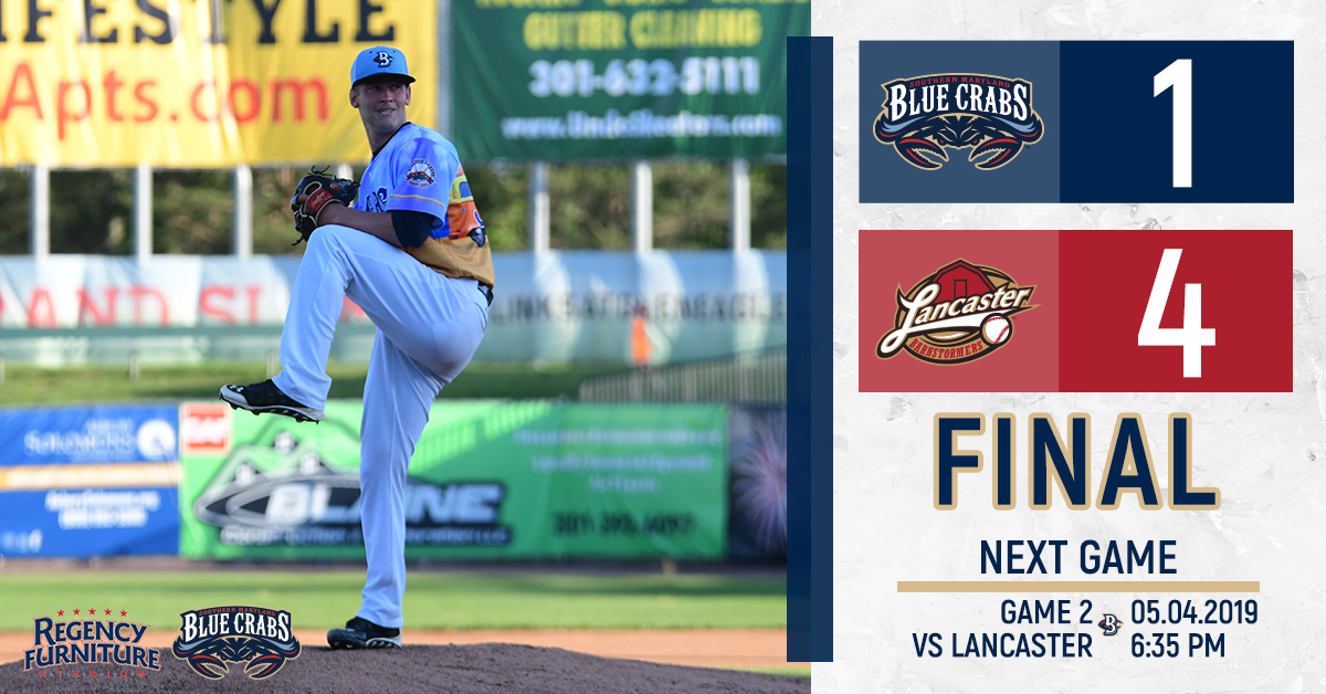 Stellar Pitching Overshadowed as Lancaster Spoils Blue Crabs' Home Opener