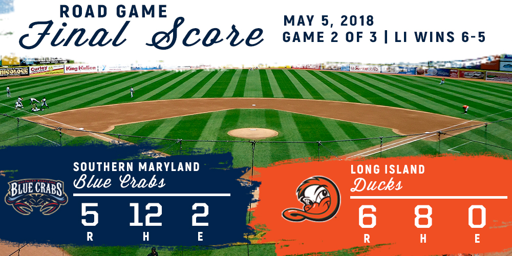 ERRORS COST BLUE CRABS IN DUCKS WALKOFF WIN