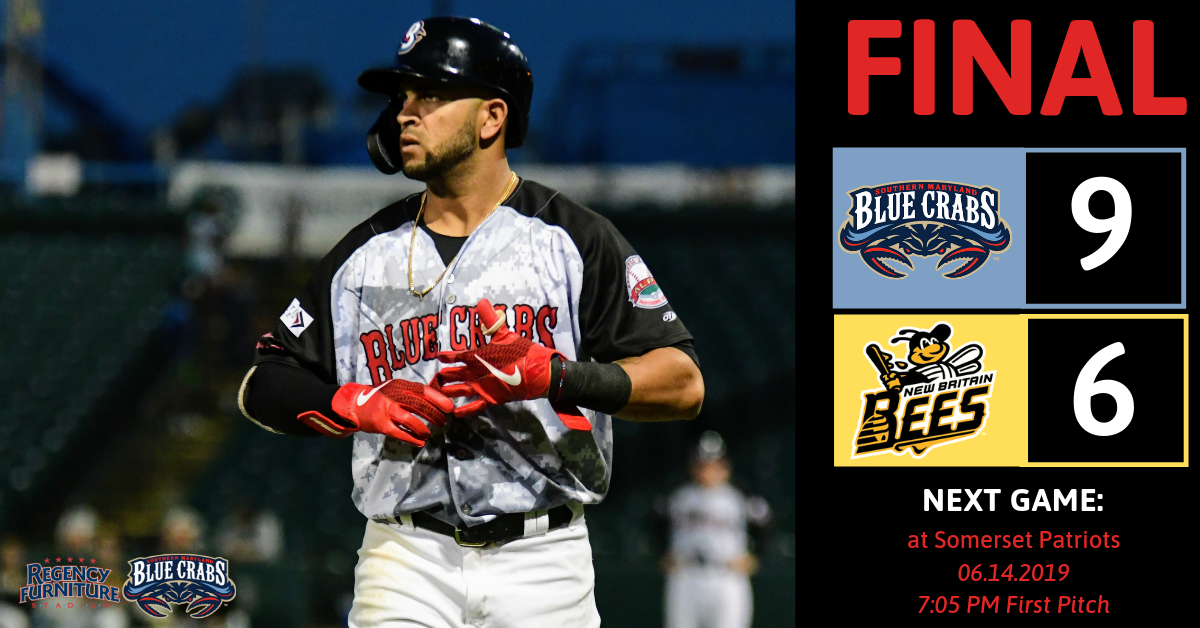 Offense Shines in Blue Crabs� 9-6 Victory