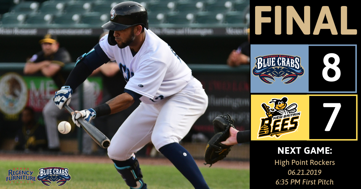 Blue Crabs Win 8-7 Thanks to Ninth Inning Rally