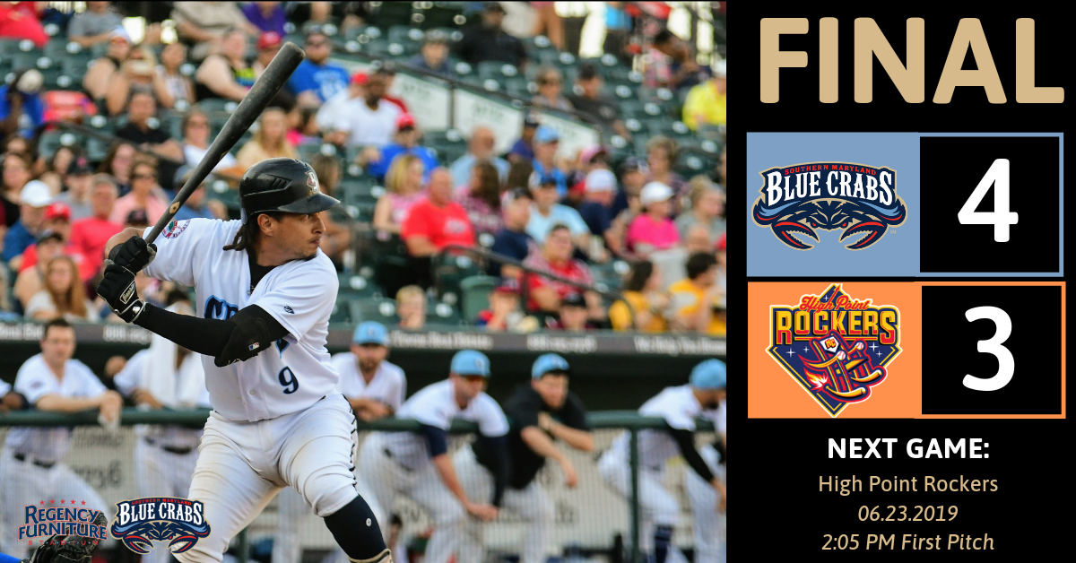 Fifth Inning Rally Leads Blue Crabs to 4-3 Victory