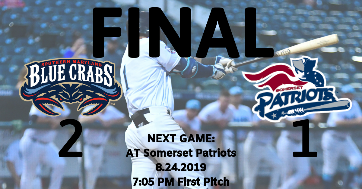 Blue Crabs Win 2-1 Nail Biter