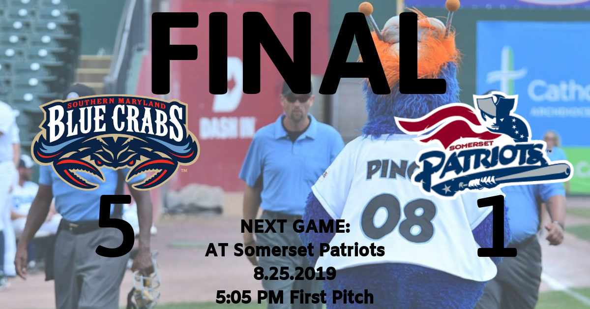 Crabs Continue Playoff Push in 5-1 Win