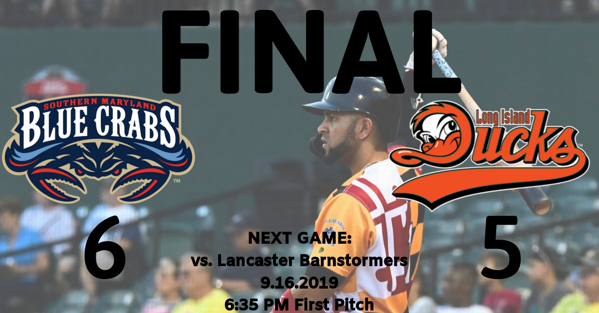 Crabs Walk-Off Ducks, Keep Playoff Hopes Alive