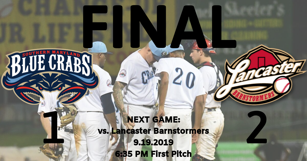 Blue Crabs Drop Second to Last Home Game of the Season