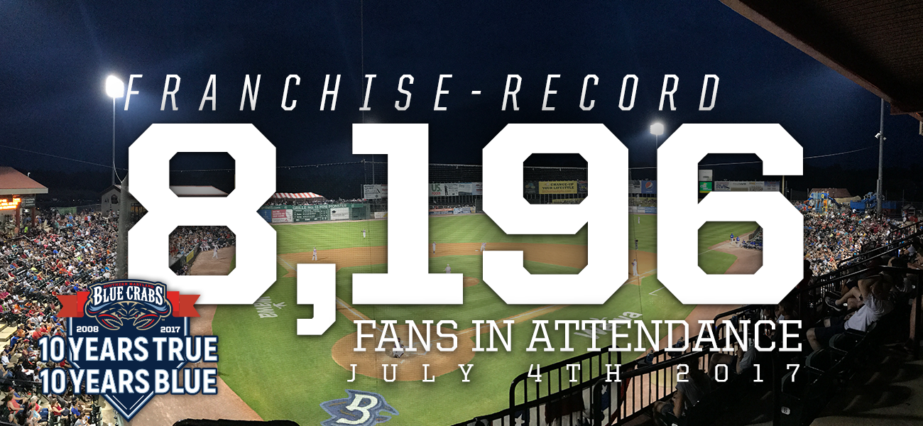 Blue Crabs Break Attendance Record