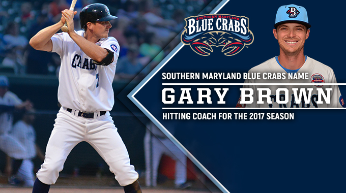 gary brown named hitting coach for 2017 season