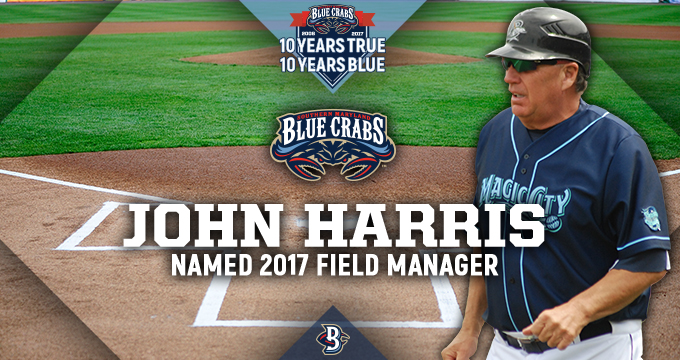 Blue Crabs Name Harris Manager For 2017