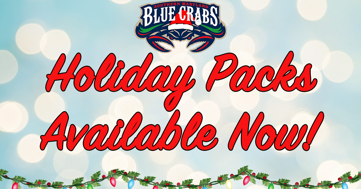 Blue Crabs Holiday Packs Available Now