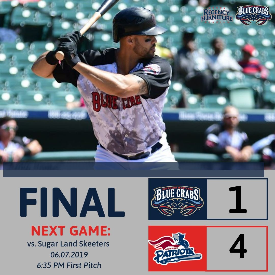 Blue Crabs Fall 4-1 in Series Finale