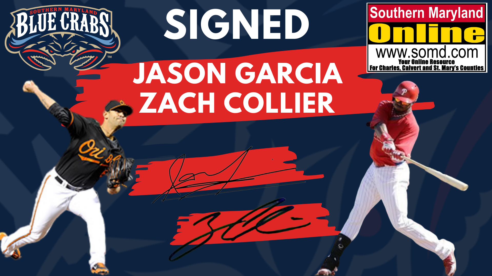 Former Oriole Jason Garcia, Outfielder Zach Collier Sign With Blue Crabs