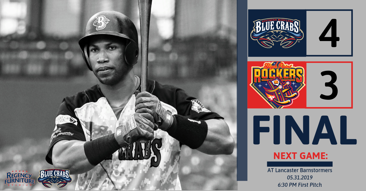 Blue Crabs Split the Series With the Rockers in a 4-3 Win