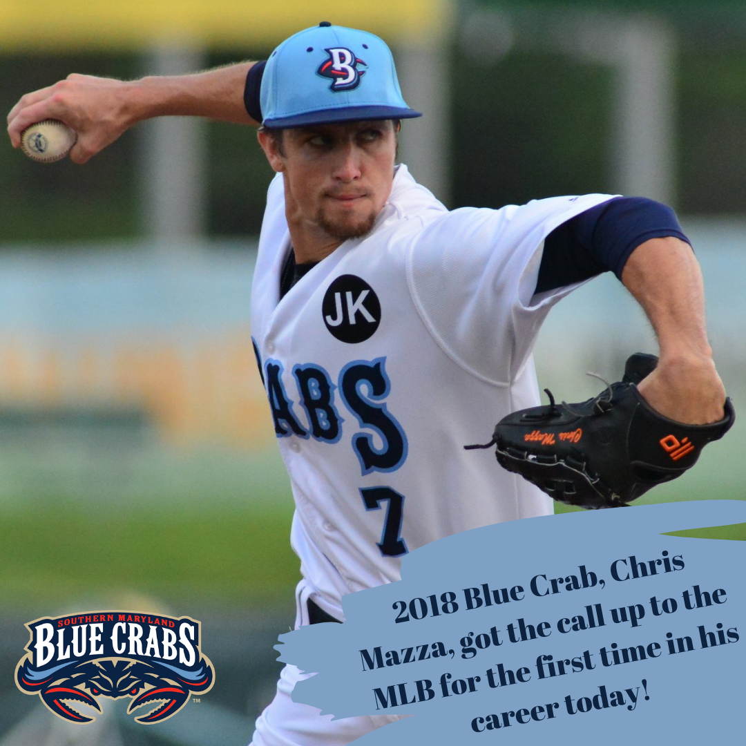 2018 Blue Crab Chris Mazza Promoted to MLB