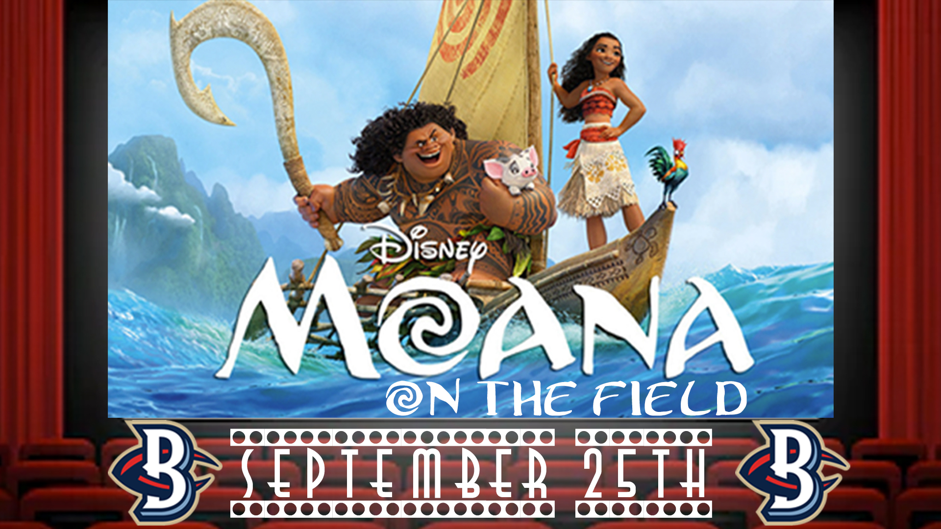 Blue Crabs Announce Disney's Moana as Family Movie Night on September 25th