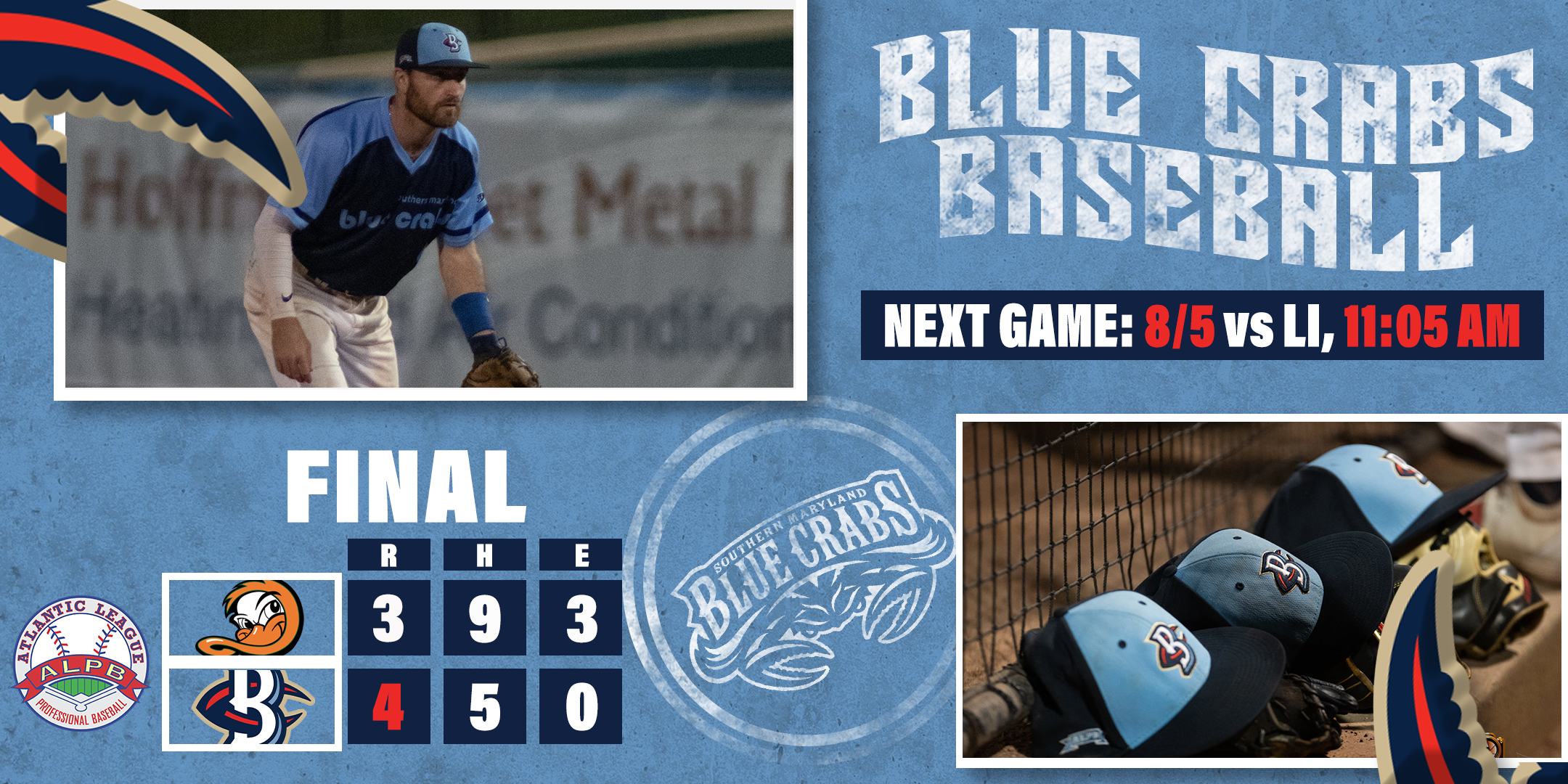 Crabs Win Historic First Game of Second Half, 4-3