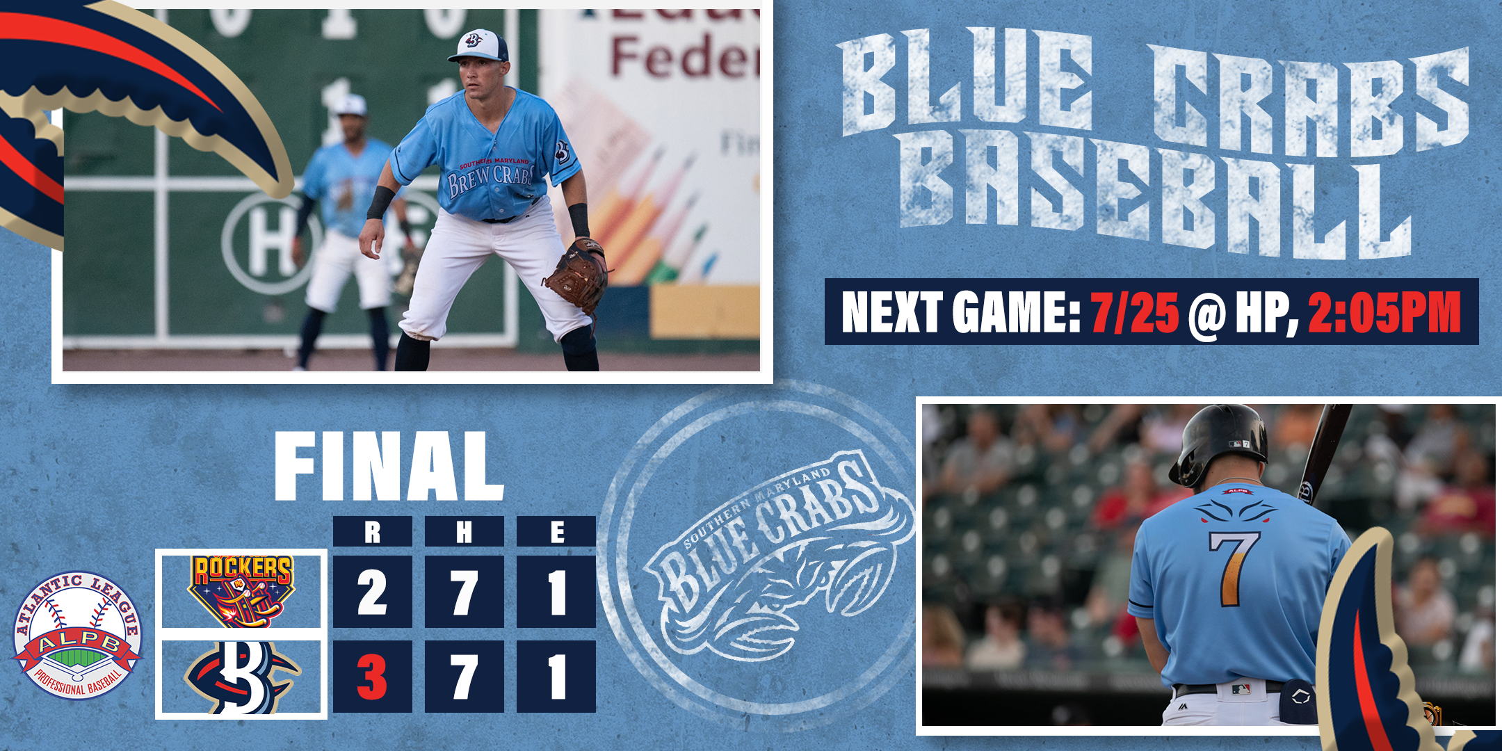 Carl Brice Fans Eight in Crabs Debut, Defeating Rockers 3-2