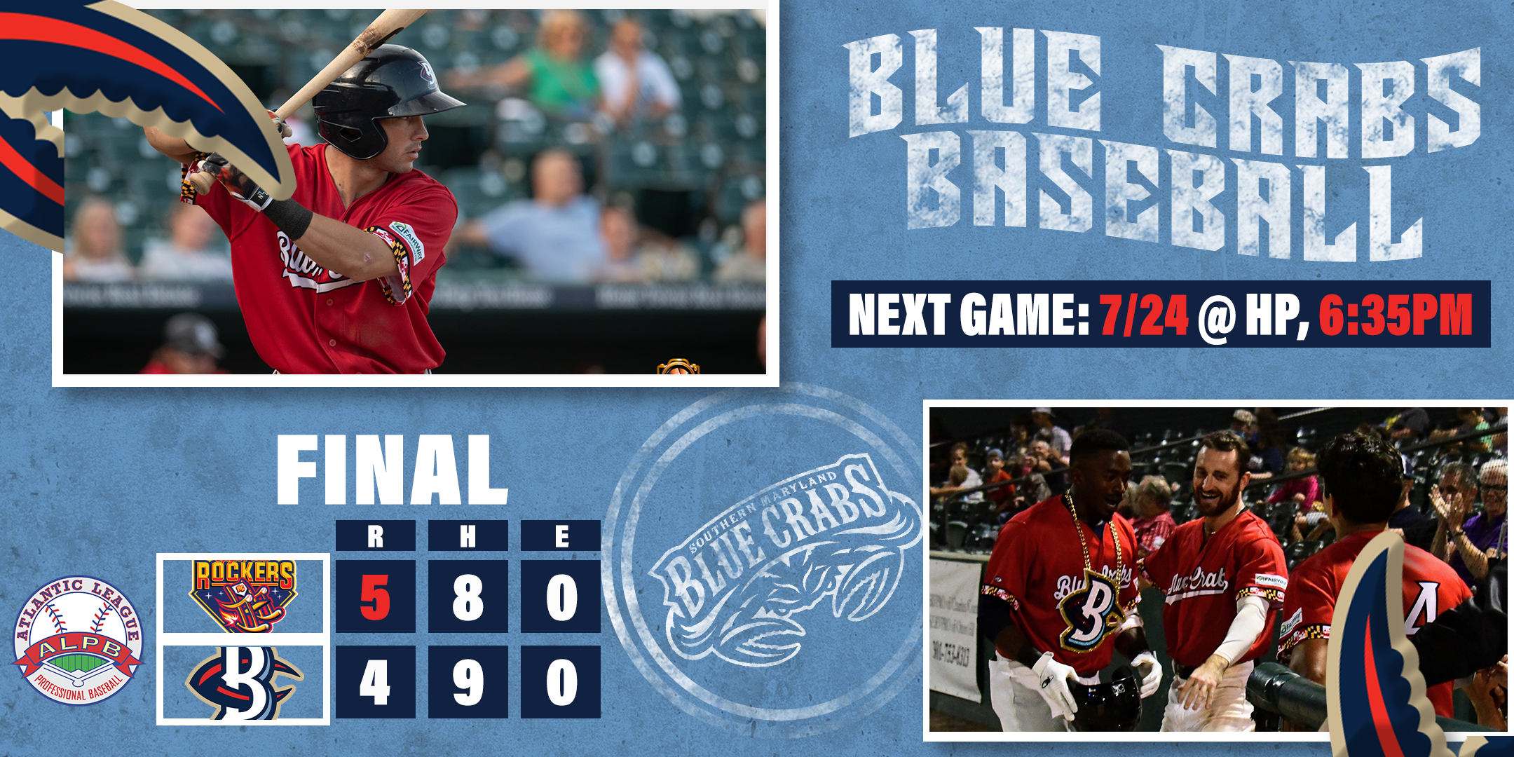 Crabs Come Up Short of Comeback In Series Opener