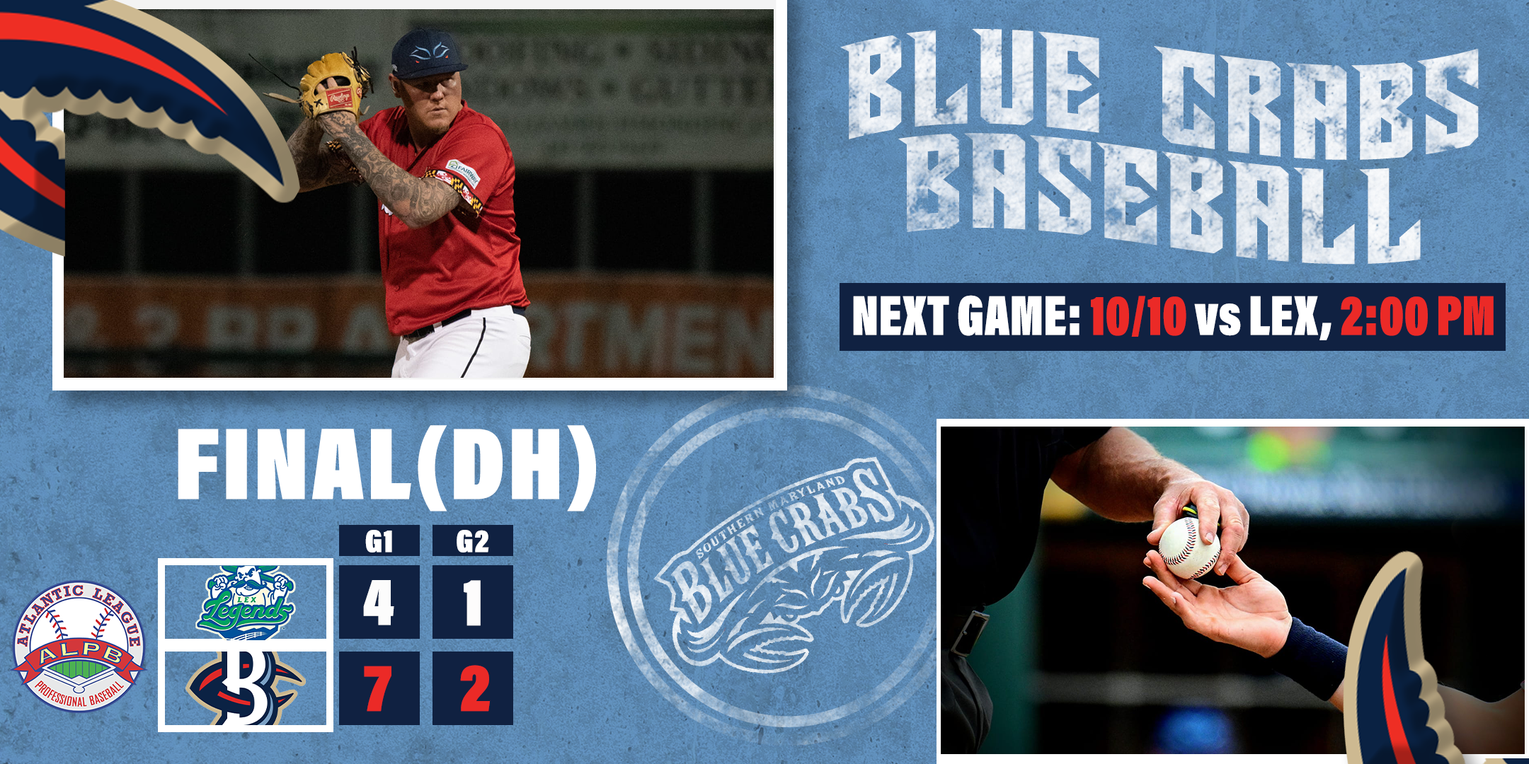 Crabs One Game Away From Clinching Playoff Spot