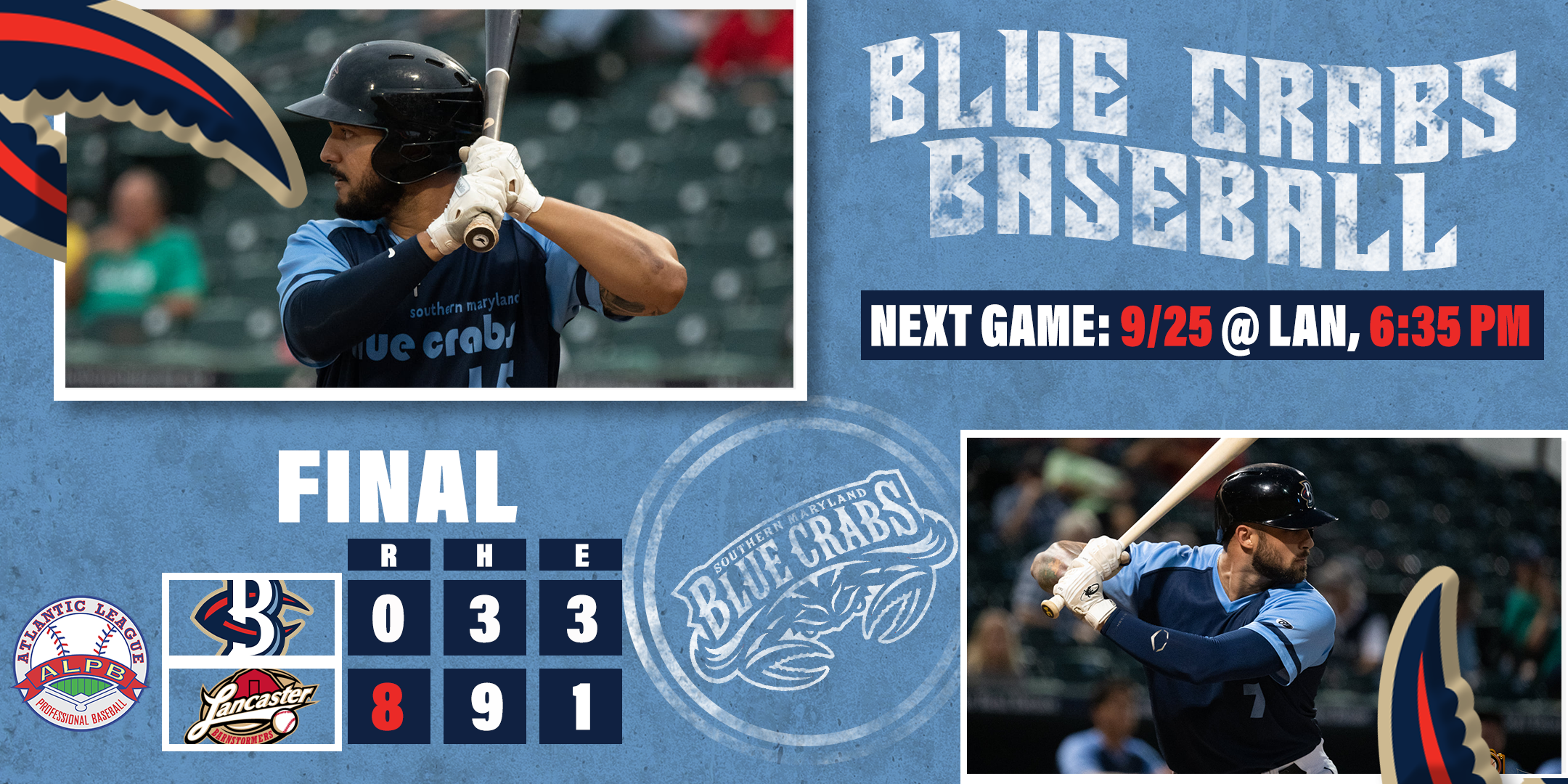 Crabs Held to Just Three Hits in Game One Loss to Barnstormers