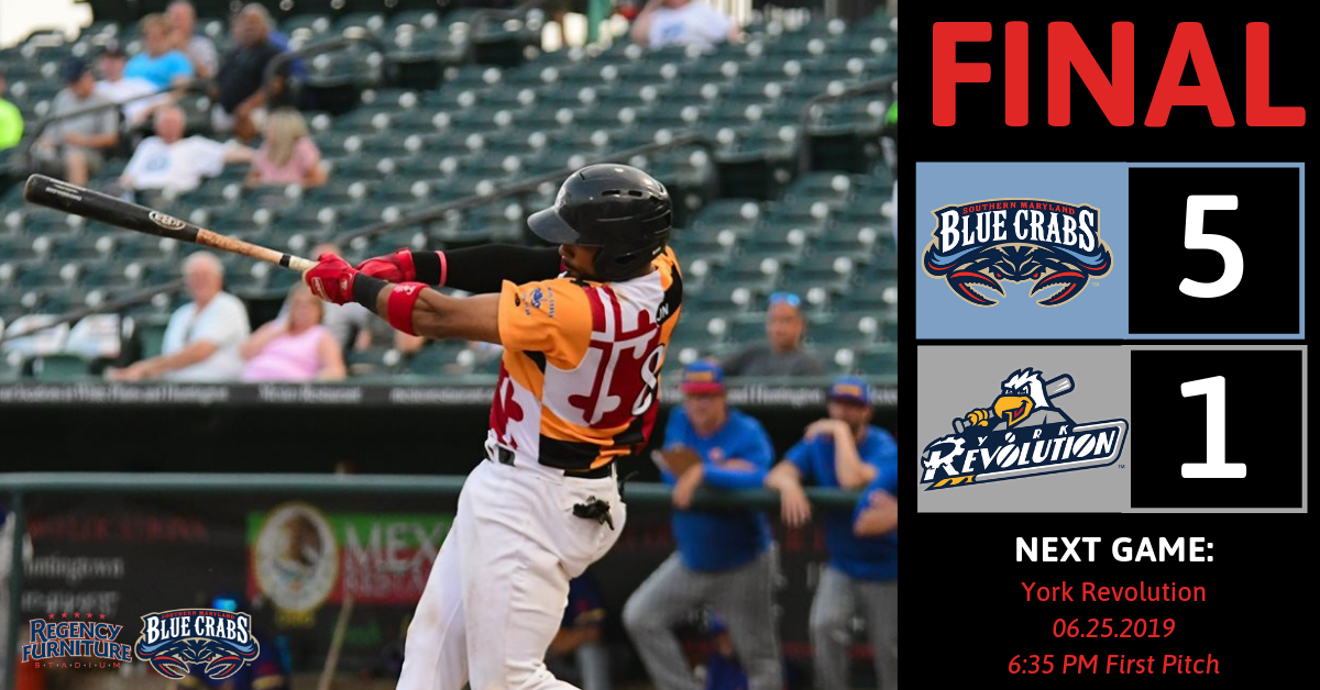 Thompson Shines in 5-1 Blue Crabs Win