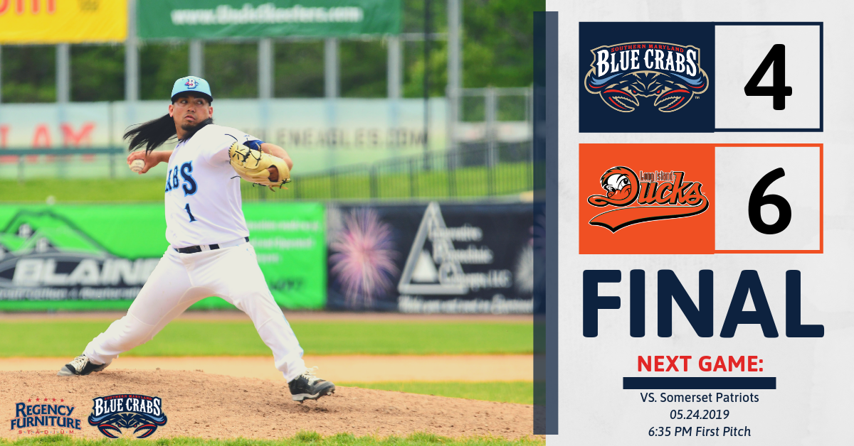 Blue Crabs Late Comeback Efforts Fall Short in Series Finale