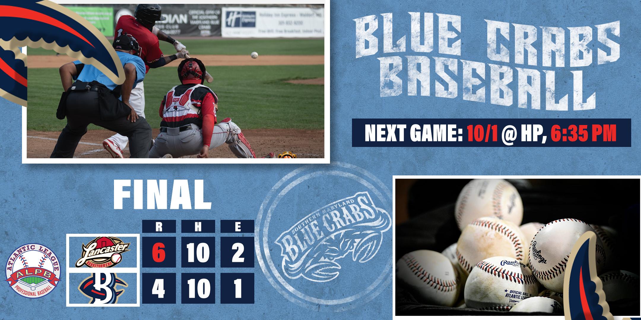 Blue Crabs Fall in Close One Versus Barnstormers 6-4 in Final Meeting