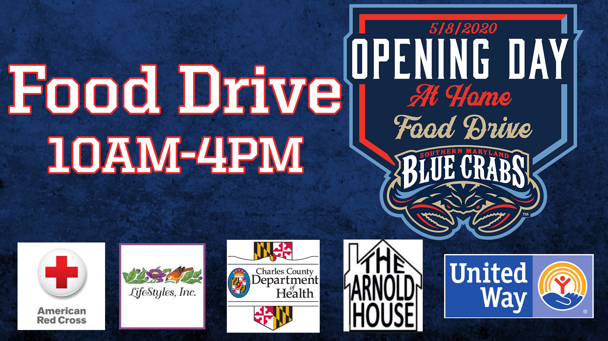 Food Drive Headlines Blue Crabs Virtual Opening Day Focused on Charity