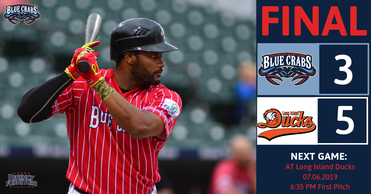 Blue Crabs Fall Short in Series Opener
