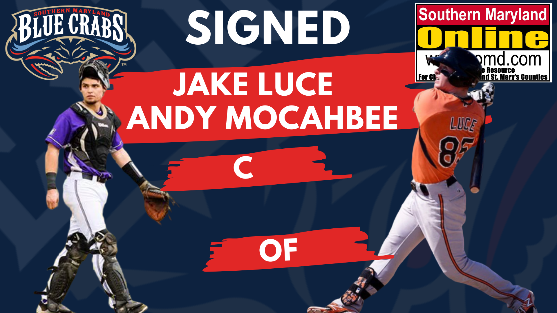 Blue Crabs Sign Founder of Luce Prospect Group, Jake Luce, and Andy Mocahbee