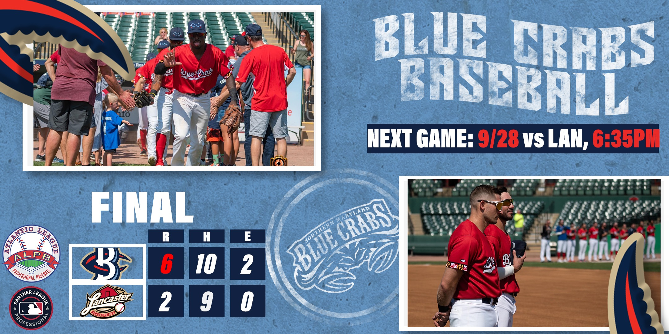 Harris Lifts Blue Crabs Over Barnstormers for Series Win