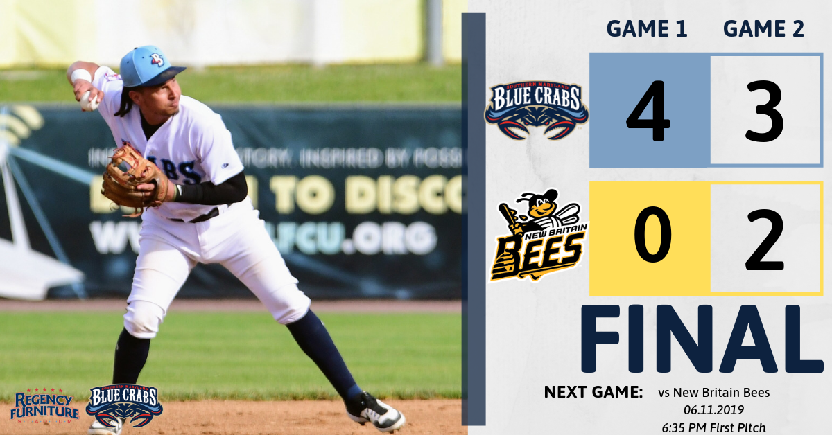 Blue Crabs Sweep Bees in Doubleheader