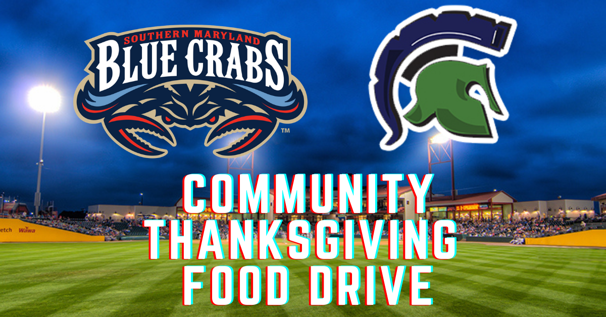 Blue Crabs Hosting Thanksgiving Food Drive with St. Charles High School