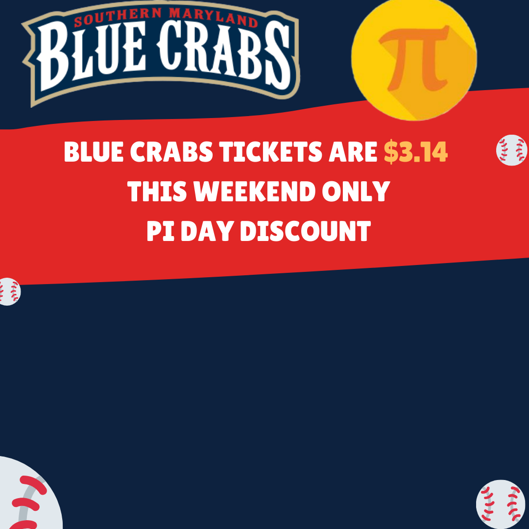 Blue Crabs Tickets on Sale for $3.14 On March 14th and March 15th For Pi Day