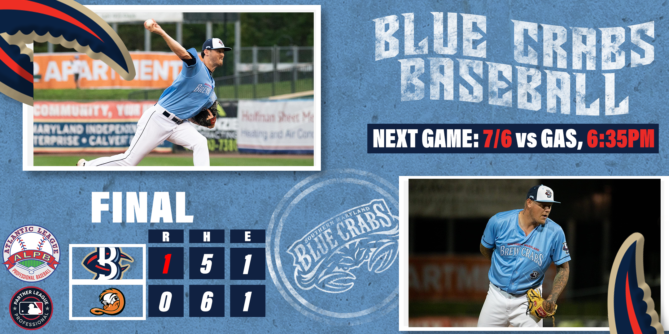 Blue Crabs Tip Toe To 1-0 Win, Retake First Place