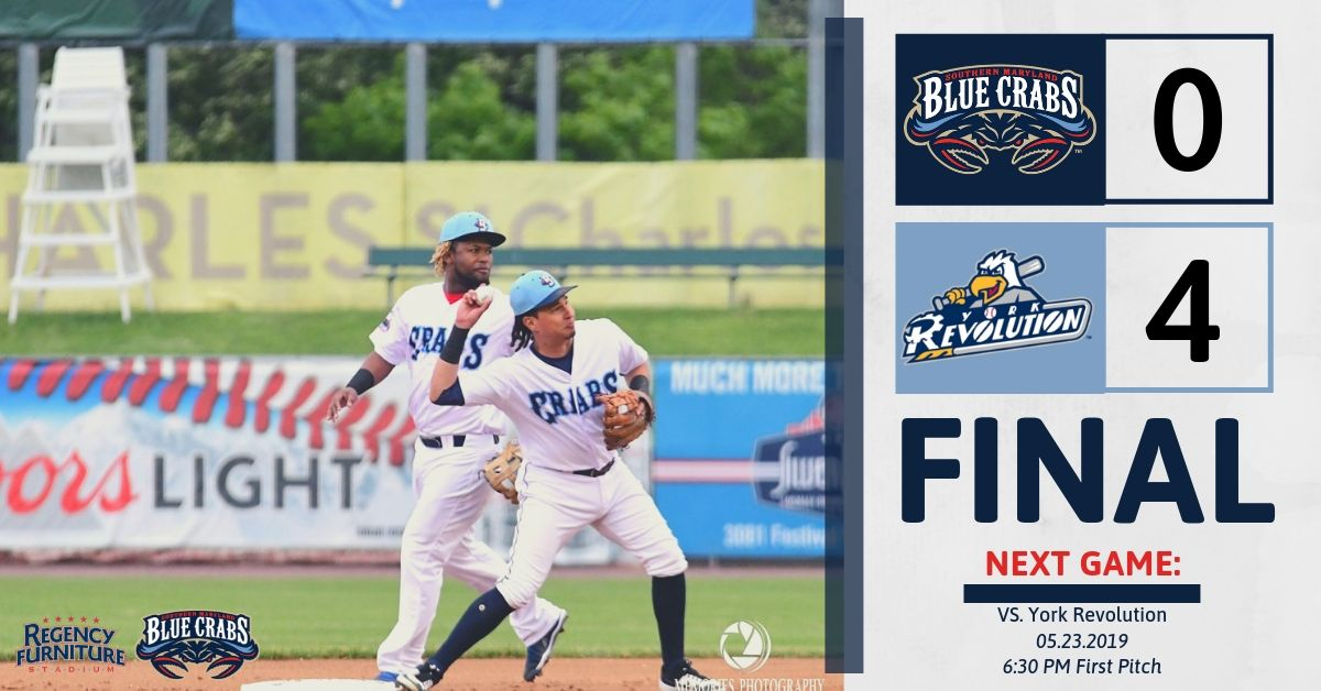 Blue Crabs Blanked by York In Game Three
