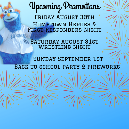 Blue Crabs Return Home on Friday August 30th