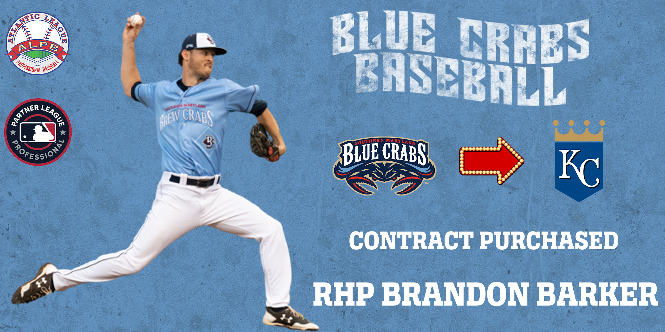 Blue Crabs� Brandon Barker Contract Purchased By Kansas City Royals