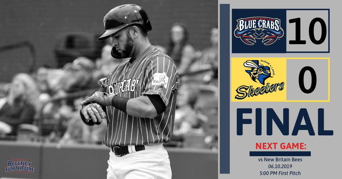 Blue Crabs Blowout the Skeeters in 10-0 Win