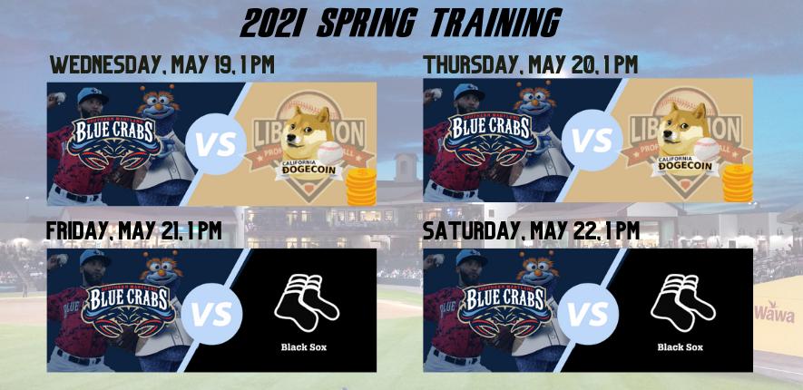 Blue Crabs Unveil 2021 Spring Training Schedule
