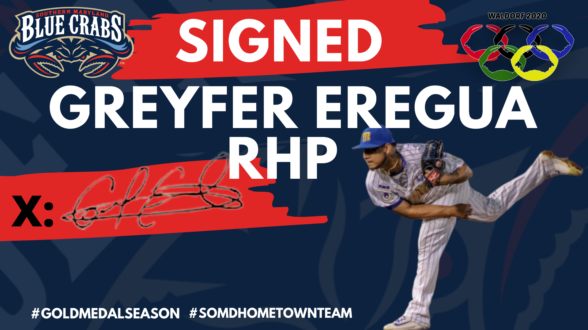 Blue Crabs Sign Greyfer Eregua