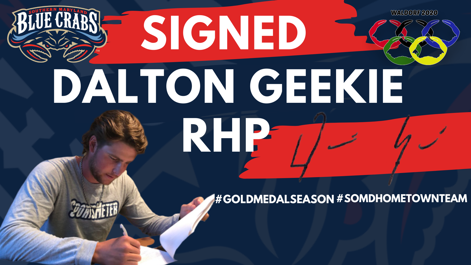 Former Cubs, Braves Prospect Dalton Geekie Kicks Off 2020 Blue Crabs Signings